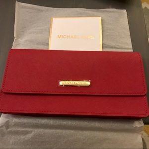 Michael Kors red clutch bag New!